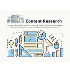 Content marketing research thin line icon design vector