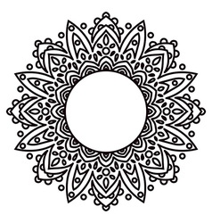 Mandalas ethnic decorative elements in a circle vector