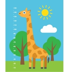 Kid height cartoon vector