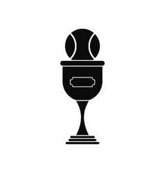 Baseball trophy black simple icon vector