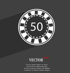 Gambling chips symbol flat modern web design with vector