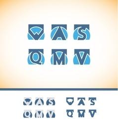 Alphabet letter logo icon set vector