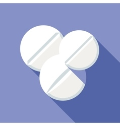 Medical pills flat icon vector