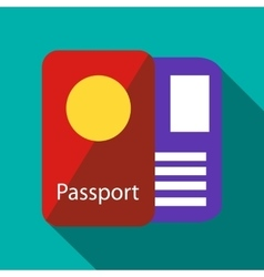 Passport icon flat style vector