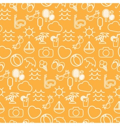 Seamless pattern in stylish colors of traveling vector