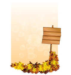 A blank paper with an empty wooden signboard vector image vector image