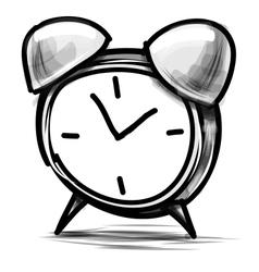 Alarm clock cartoon sketch vector image
