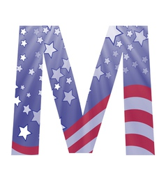 american letter M vector image vector image