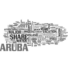Best in the carribean text word cloud concept vector