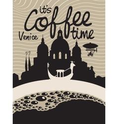 Coffee venice vector