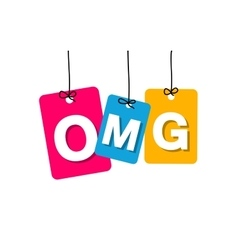 Colorful hanging cardboard tags - omg vector