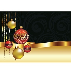 Decorative Christmas Ornaments3 vector image
