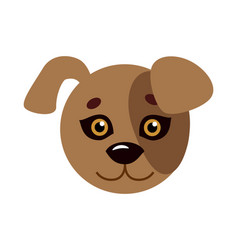 Dog animal carnival mask favorite pet festival vector