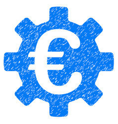Euro machinery gear grunge icon vector