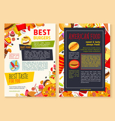 Fast food restaurant poster or menu vector