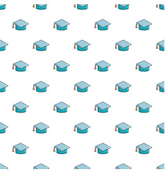 graduation hat pattern seamless vector image