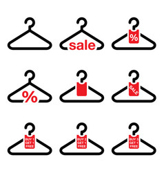 hanger sale buy 1 get 1 free buttons set vector image vector image
