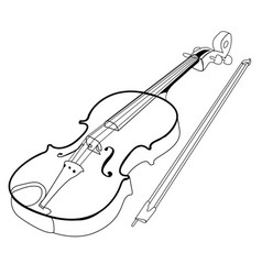 Isolated violin outline vector