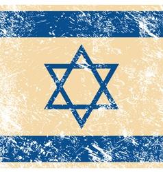 Israel retro flag vector image vector image