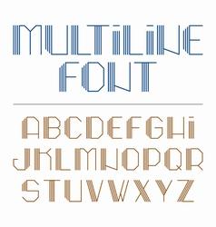 Multiline font vector