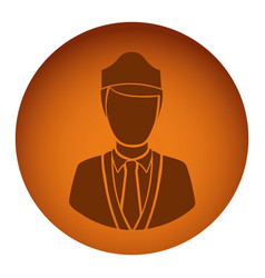 orange emblem guard person icon vector image