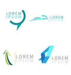 Set of business logos vector