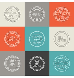 set of labels badges and emblems vector image vector image