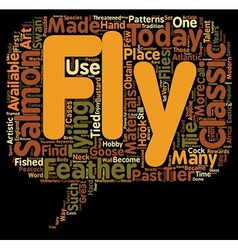 The classic samon fly text background wordcloud vector