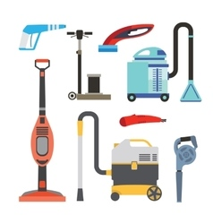 Cleaning equipment set vector
