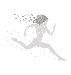 girl running women vector image