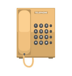 Office telephone icon vector