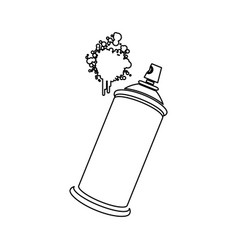 Figure aerosol sprays with a stain icon vector