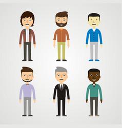 people - men vector image