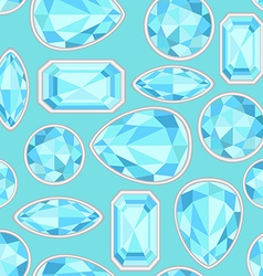 Blue sapphire saturated color seamless pattern vector