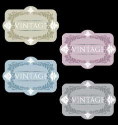 wine labels33 vector image