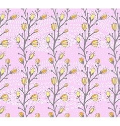 Seamless spring pattern with the branch of a vector