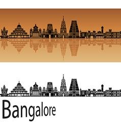 Bangalore skyline in orange vector