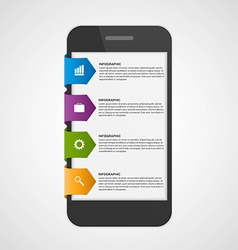 Mobile infographic design concept design elements vector