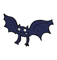 Comic cartoon vampire bat vector