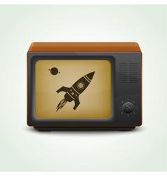 Realistic retro tv vector image