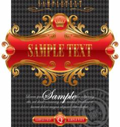 Design with ornate golden frame vector