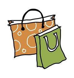 A shopping bag vector