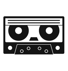Audio cassette tape icon simple style vector