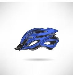 Bike helmet vector