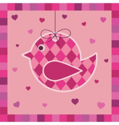 bird greeting card vector image
