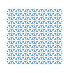 Blue flower of life sacred geometric background vector