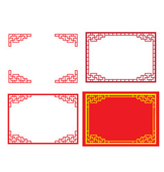 Chinese ornament for card and picture frame vector
