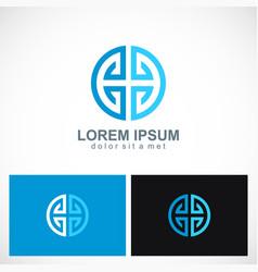 circle geometry abstract logo vector image vector image