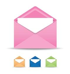 coloured open envelope set vector image
