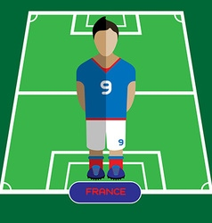 Computer game france soccer club player vector